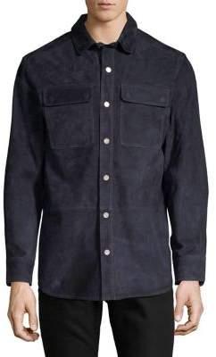 Black & Brown Black Brown Nappa Leather Utility Shirt