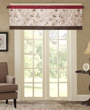 """Madison Home USA Closeout! Serene 50"""" x 18"""" Colorblock Embroidered Valance"""