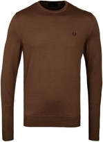 Fred Perry Dark Caramel Classic Crew Neck Sweater