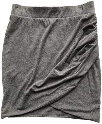 Ikks Grey Cotton - elasthane Skirt for Women