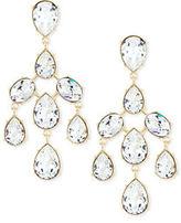 Oscar de la Renta Floating Crystal Chandelier Earrings
