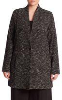 Eileen Fisher, Plus Size Tweed knit Boyfriend Blazer