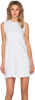 Alexander Wang Frayed Burlap Shift Dress