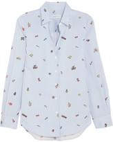 Mira Mikati Printed Cotton-poplin Shirt - Blue