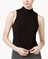 Kensie Quilted Zip-Back Top