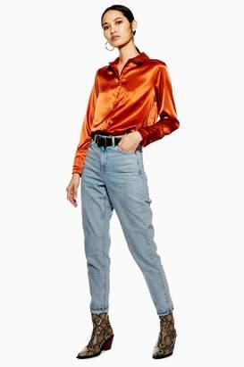 Topshop Womens Bleach Mom Jeans - Bleach Stone