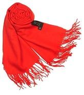Fringed Solid Wool And Cashmere Pashmina Shawl