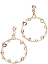 Oscar de la Renta Circular Crystal Earrings