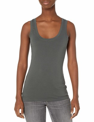 Velvet by Graham & Spencer Women's Mossy Gauzy Whisper Classics Scoopneck Tank