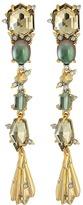 Alexis Bittar Crystal Studded Dangling Stone Post Earrings Earring