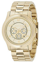 Michael Kors Runway 3 Hand Champagne Dial Chronograph Watch