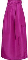 Paper London - Miller Pleated Faille Maxi Skirt - Magenta