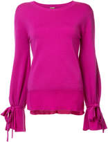ADAM by Adam Lippes Crewneck sweater with bell sleeve