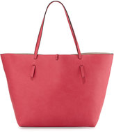 Neiman Marcus Reversible Faux-Leather Tote Bag, Pink/Rose Gold