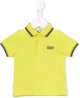 Boss Kids - embroidered logo polo shirt - kids - Cotton - 6 mth