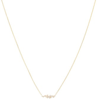 Suzanne Kalan Fireworks 18kt yellow gold and diamond necklace