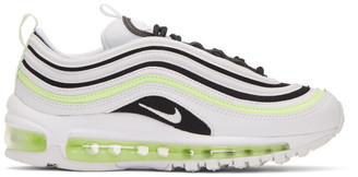 Nike White and Black Air Max 97 Sneakers