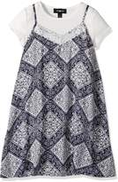 Amy Byer Big Girls' Print Diamond T-Shirt Dress