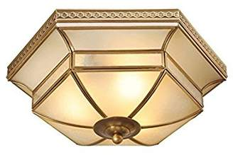 Camilla And Marc 36 cm 3-Bulb Ceiling Light Matt Brass Glass Tiffany Country House Style Excl. E27 3x60 W 230 V