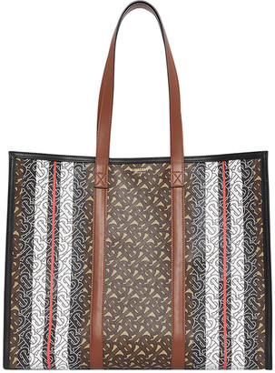 Burberry Small East-West Monogram Book Tote Bag