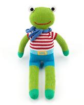 Zubels Super-Hero Frog Knit Doll