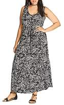 City Chic Summer Party Graphic Print Maxi Dress
