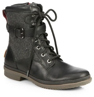 UGG Kesey Leather & Wool Combat Boots