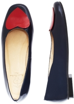 Brooks Brothers Patent Leather Heart Flats