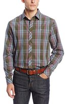 Original Penguin Men's Long Sleeve Large Plaid Shirt