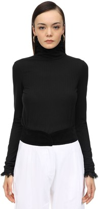 ÀCHEVAL PAMPA Stretch Jersey Top W/ Lace