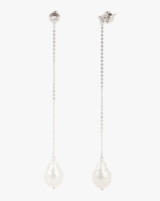 Carolee Linear Freshwater Pearl Drop Earrings