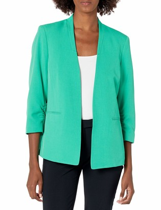 Kasper Women's Stretch Crepe Stand Collar Cardigan Jacket