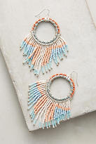 Anthropologie Mirror Image Hoop Earrings