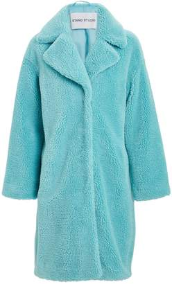 Stand Camille Faux Shearling Cocoon Coat