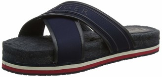 Tommy Hilfiger Women's Colorful Tommy Flat Sandal Open Toe