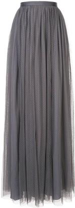 Needle & Thread Long Pleated Skirt