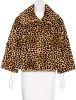 Bloomingdale's Printed Fur Jacket
