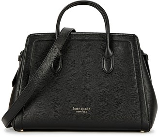 Kate Spade Knott Large Black Leather Top Handle Bag