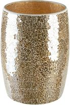 Gold Crackle Mosaic Glass Wastebasket