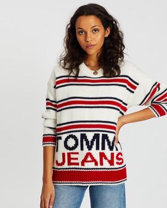Tommy Jeans Multi-Stripe Tommy Sweater