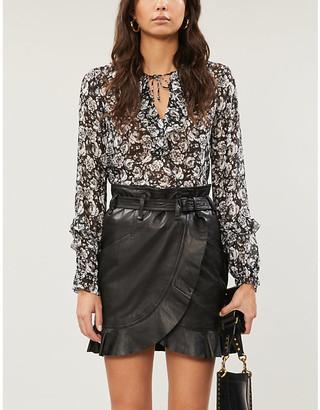 Paige Robin floral-pattern silk-chiffon blouse