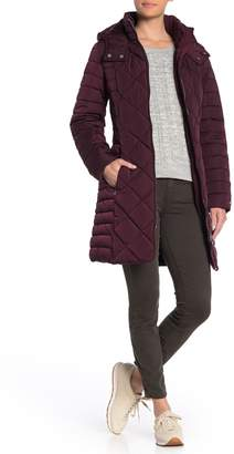 Tommy Hilfiger Zip Front Hooded Puffer Jacket