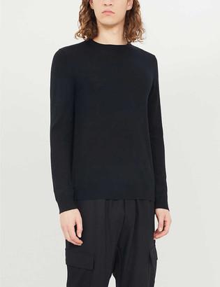 Reiss Wessex rib-trimmed wool-knit jumper