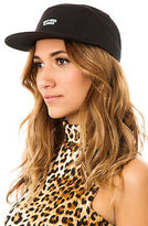 Crooks & Castles Crooks and Castles The Woven G3 Gold, Guns, & Glamour 5-Panel Cap in Black