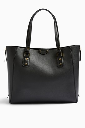 Topshop Womens New Trip Black Shopper Bag - Black