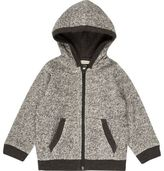 River Island Mini boys grey cosy zip up hoodie