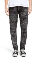 Rock Revival Moto Skinny Fit Jeans (Ivan Black)
