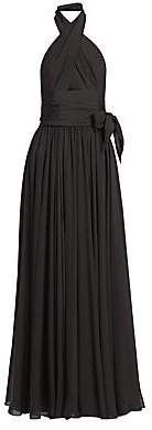 Alaia Women's Silk Muslin Cross-Front Gown