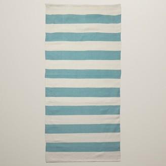 Indigo Outdoor Rug Aqua Stripe