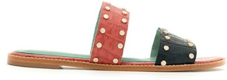 Blue Bird Shoes crocco Caraiva flat sandals